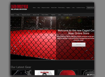 caged combat wear ecommerce site