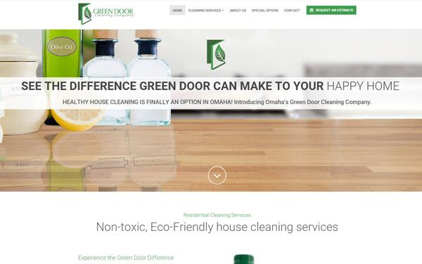 the green door cleaning company website